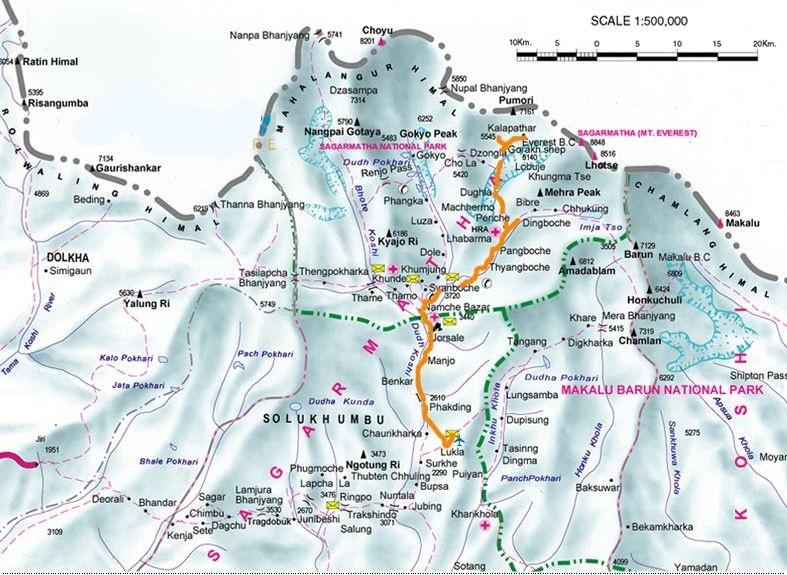 everest region map