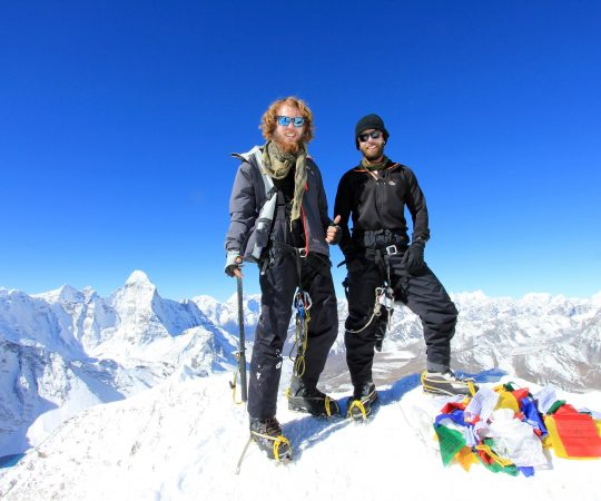 island climbing by australian guest of Boundless Himalayas