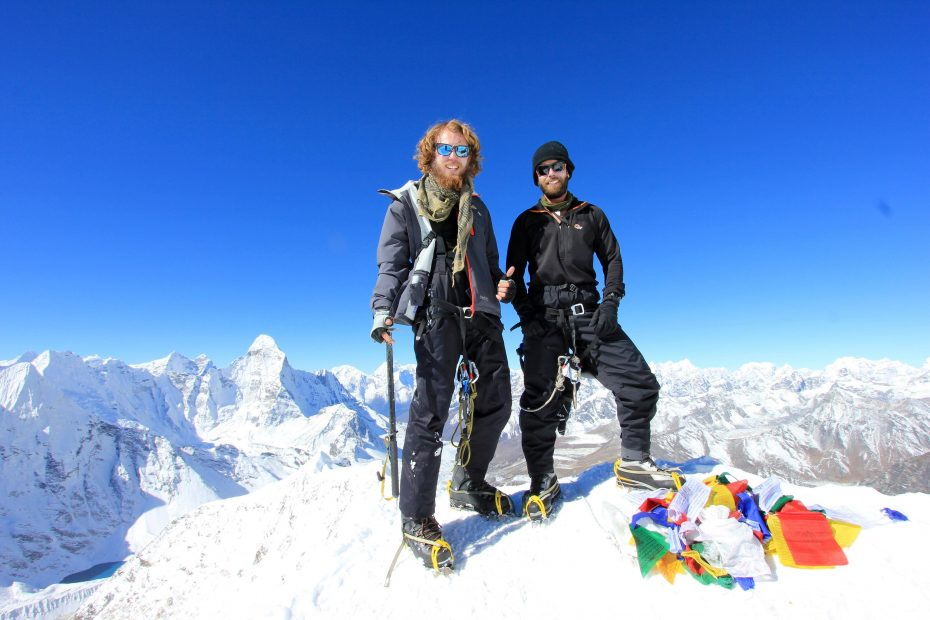 island climbing by australian guest of Boundless Himalayas