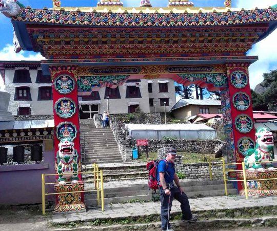 Jim in Tengboche Monastery - Everest Panorama Trek