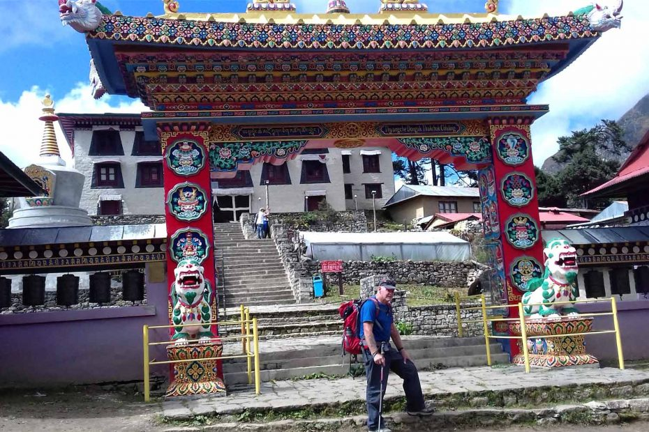 Jim in Tengboche Monastery – Everest Panorama Trek